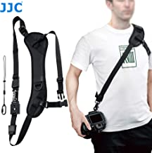 JJC NS-PRO1M Adjustable Quick Release Sling Strap, Cross Body Strap, Camera Strap, Rapid Shoulder Neck Sling Strap Belt, Breathable & Comfortable Shoulder Pad, Arca Swiss Type QR Plate Strap Eyelet
