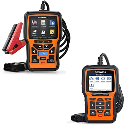 lowest FOXWELL lowest NT510 Elite OBD2 Code Reader for Honda Acura and NT301 Plus Car lowest Scanner Diagnostic with 12V Battery Tester outlet sale