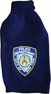 Royal Animals 12258P-L NYPD Pet Sweater, Large, Navy Blue