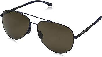 Hugo Boss Men's Polarized Blue Aviator Sunglasses