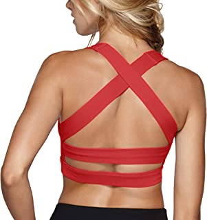 Snailify Women's Sports Bra Criss Cross Racerback High Impact Yoga Running Wirefree Bras - Yoga Gym Workout Bra