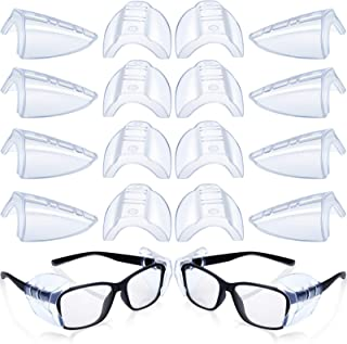 8 Pairs Safety Eye Glasses Side Shields Slip Clear Flexible Slip On Shield Fits Small Medium Eyeglasses Added More Protect...