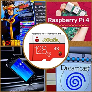TAPDRA Tarjeta SD RetroPie de 128 GB para Raspberry Pi 4 14000+ Juegos 45+ Emuladores Precargados DIY Emulationstation