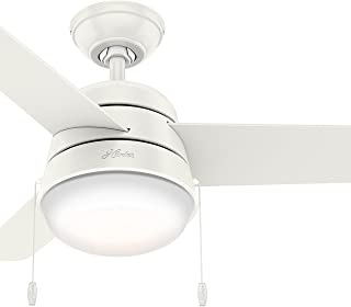 Hunter Fan 36 inch Ceiling Fan in Fresh White with Integrated LED Light Kit (Renewed) (Fresh White)