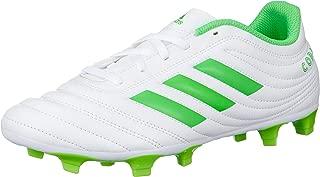 adidas D98069 COPA 19.4 FG Mens Soccer Shoes, White (ftwr white/solar lime/ftwr white)