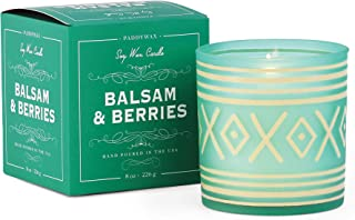 Paddywax Candles Glee Collection Holiday Scented Candle, 8 oz, Balsam & Berries