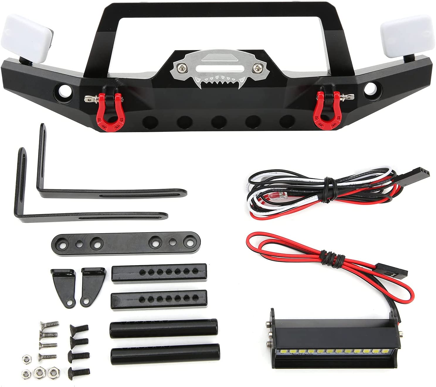 Vbestlife RC Front Max 62% OFF Bumper with LED Light Bu Metal Max 72% OFF Alloy Aluminum