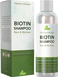 Natural Biotin Shampoo For Hair Growth and Strengthener - Hair Loss Treatment for Thinning Hair With Vitamin B5 Zinc - Premium Argan Oil for Men & Women ...