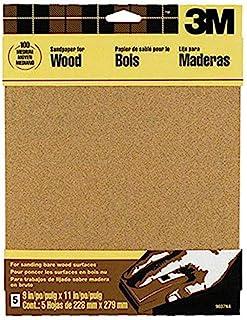 3M Garnet Sandpaper, 9-Inch by 11-Inch, Assorted-Grit, 5-Sheet - 9040NA