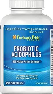 Puritan's Pride Nature's Promise Probiotic Supplement, Acidophilus, 250 Count