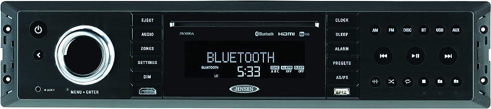 Jensen JWM90A Slimline 3-Zone Source Theater-Style Bluetooth Wallmount Stereo w/ App Control, DVD/CD-R/RW