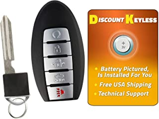 For 16-18 Nissan Maxima 16-18 Nissan Altima Keyless Entry Remote Smart Key Fob 5btn W/Insert KR5S180144014; 7812D-S180204