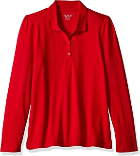 The Children's Place Big Girls' Long Sleeve Basic Polo