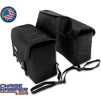 Chase Harper USA 3775 Phoenix Saddle Bags - 21.2 Liters - Water-Resistant, Tear-Resistant, Industrial Grade Ballistic Nylon