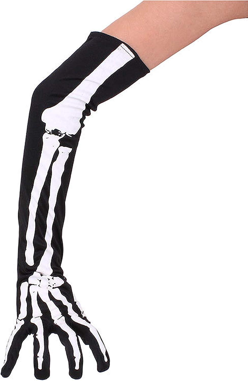 Women's Long Skeleton Bone Arm Warmer Halloween Wristband Max 69% Limited price OFF Sleeve
