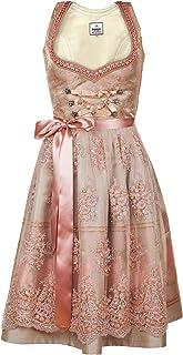 Edelnice Trachtenmode Bavarian Women`s Designer Midi Dirndl Rosalie Dress 2-Pieces + Apron Size US2-US22