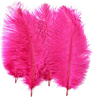 Ostrich Feathers,Plume, Hgshow 10pcs Feather 12-14 inch(30-35cm) for Home Wedding Decoration
