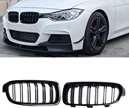 Gloss Black Twin Slat Front Bumper Kidney Grilles for BMW F30 F31 from 2011-Present