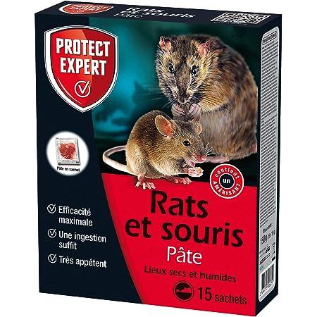 PROTECT EXPERT RASOU150 RASOU150-Pâte Rats et Souris 150g-Lieux secs et humides-Efficacité maximale, Sachets pré-dosés