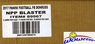 2017 Donruss NFL Football Factory Sealed 20 Box Blaster CASE with 20 ROOKIE MEMORABILIA Cards! Look for RC's & AUTO's of Deshaun Watson, Mitchell Trubisky, Leonard Fournette & More! WOWZZER!
