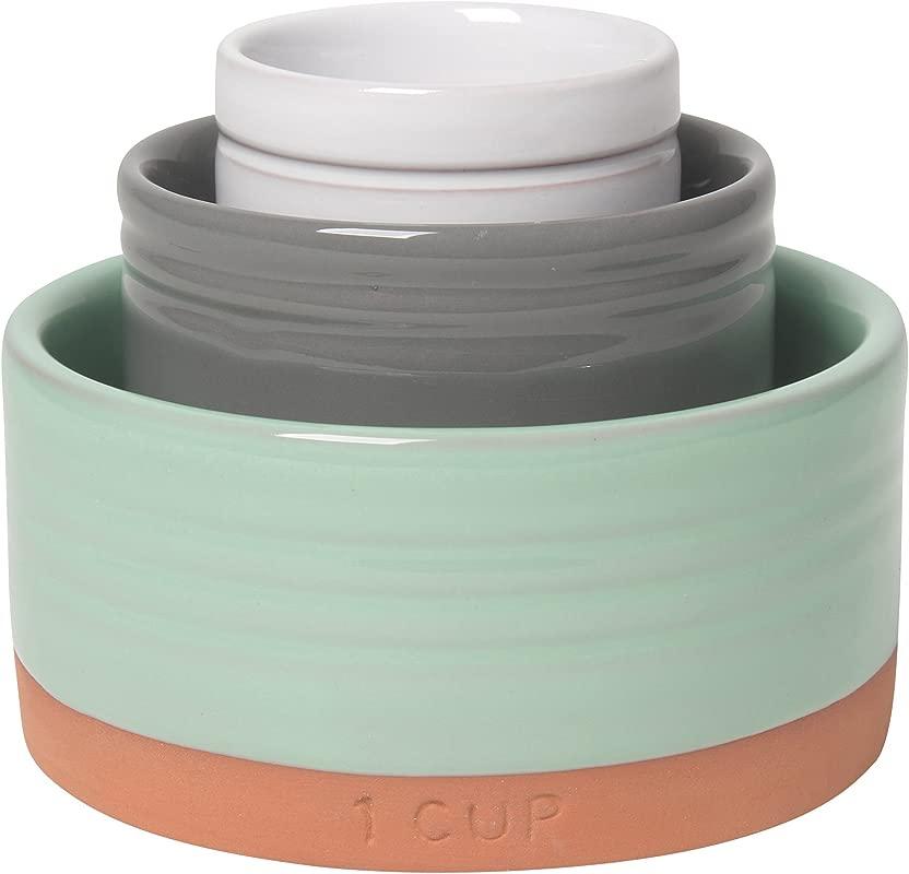 Now Designs Glazed Terracotta Nesting Prep Bowls Set Of Three