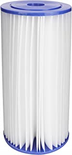 EcoPure EPW4P Pleated Whole Home Replacement Water Filter-Universal Fits Most Major Brand Systems, White/Blue