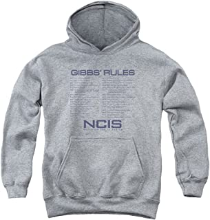 Trevco NCIS Gibbs Rules Unisex Youth Pull-Over Hoodie for Boys and Girls