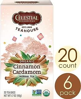 Celestial Seasonings Organics Herbal Tea, Cinnamon & Cardamom, 20 Count (Pack of 6)