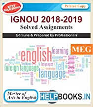 IGNOU Solved Assignments MA English | MEG1, MEG2, MEG3, MEG4 | Printed Copy | 2018-2019 | copyrights Helpbooks.in*