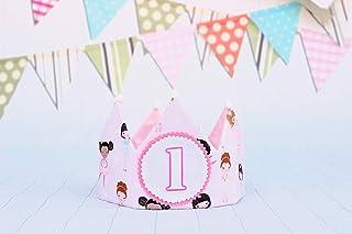 corona principessa bambina 1 anno Bambino Ragazza Compleanno