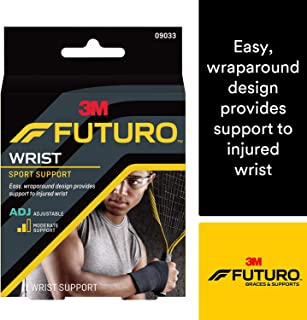 Futuro Sport Adjustable Wrist Support,  Helps Relieve Symptoms of Wrist Sprains,  Moderate Support