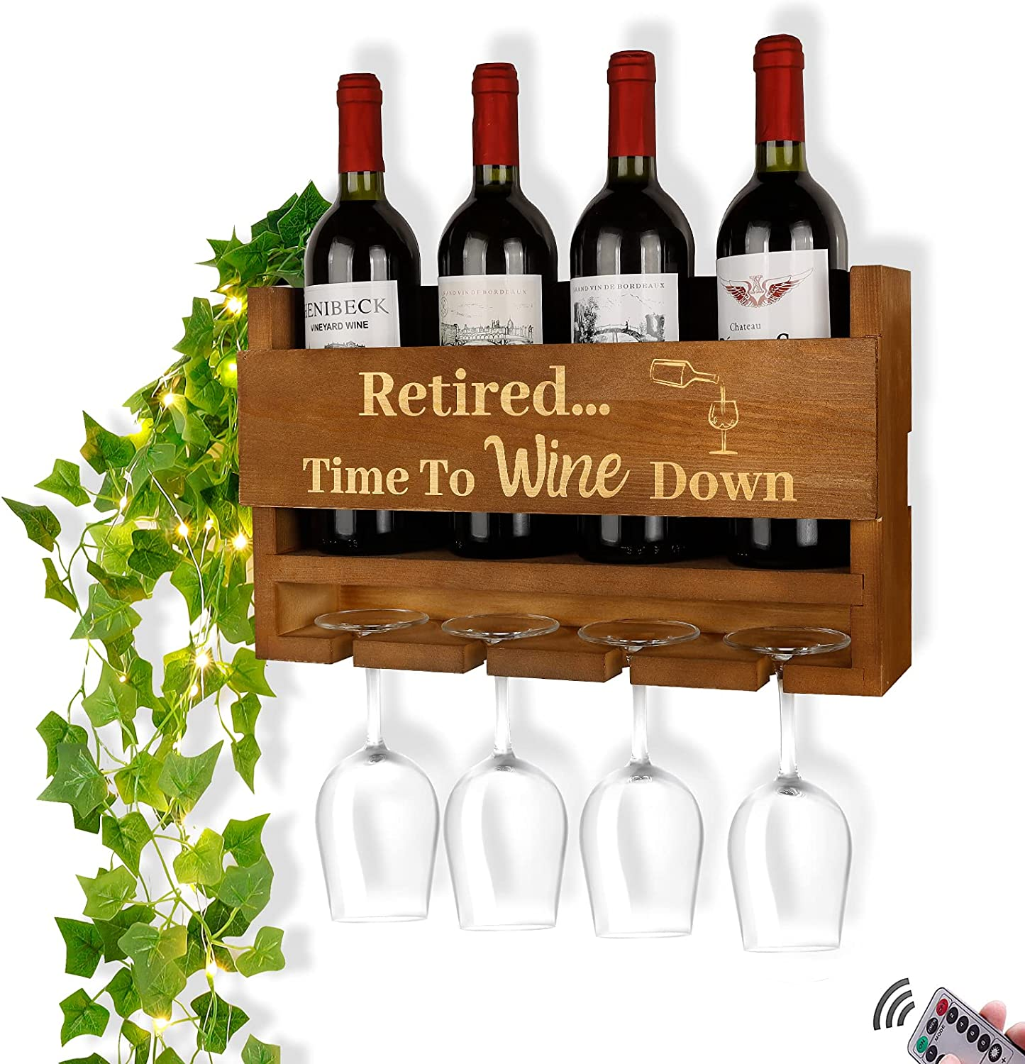 Retirement Gifts for Women Wall Mounted Glass - Rack Now Under blast sales on sale Wine H