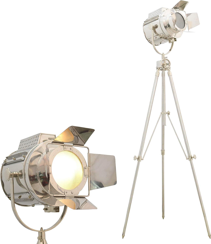 Brass Nautical Living Room Tripod Floor Lamp - 170cm (67 inches) high