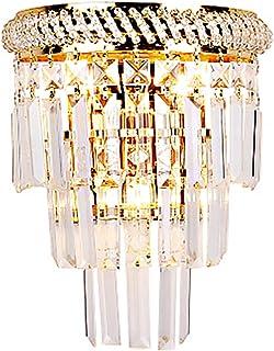 HJXDtech Applique murale rideau en cristal de haute qualité, Classique mur Luminaire en or Terminer pour nuit Aisle Salon...