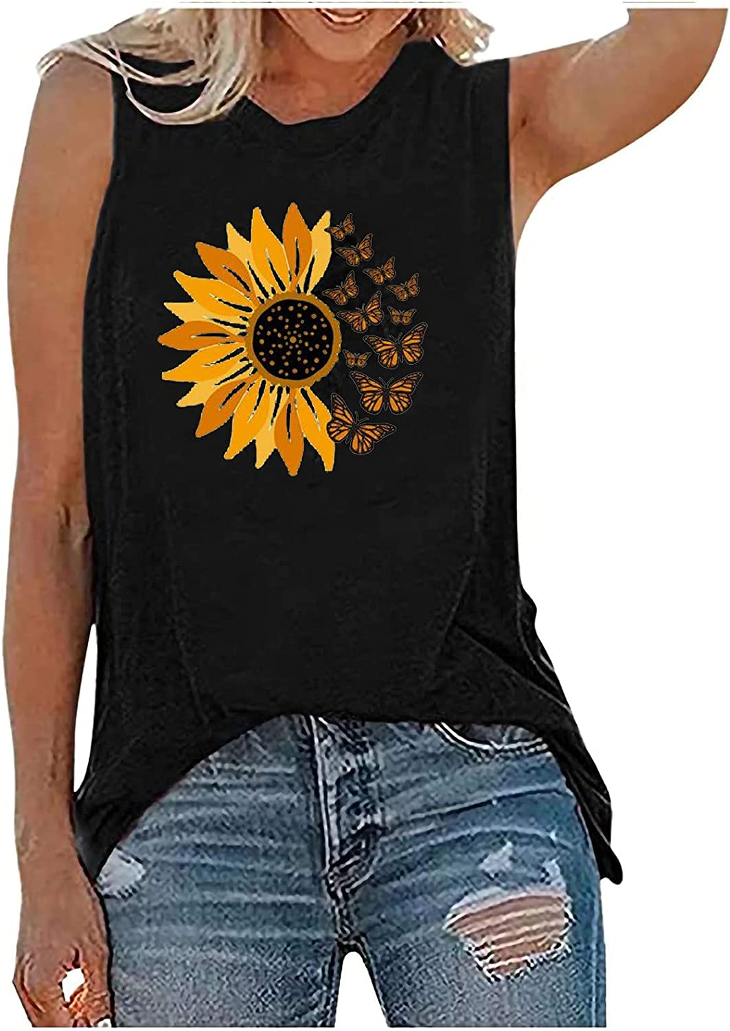 Womens Summer Tops Product Tank Casual Plus Size Loose S Fit Omaha Mall