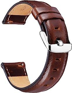 BINLUN Bracelets de Montres en Cuir Bracelet pour Montre de Remplacement à libération Rapide en Cuir Souple pour Hommes et...