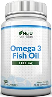 Omega 3 | Aceite de Pescado | 1000 mg | 365 Cápsulas (