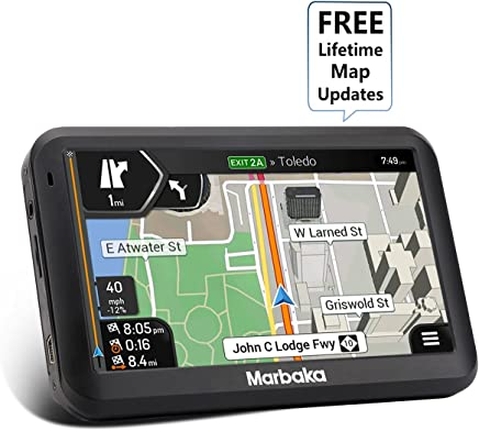 [2019 Upgraded Version] GPS Navigation for car, 5-inch Display GPS Navigation System Preloaded North America map, Free Lifetime Map Update, Voice Trun-by-Turn Route Guidance, Speed Limit Reminder