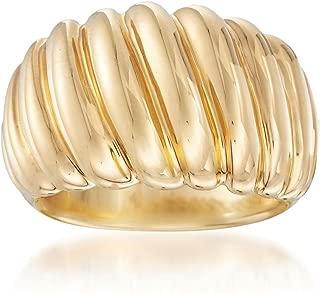 Italian Andiamo 14kt Yellow Gold Shrimp Ring