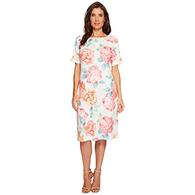 Nally & Millie Big Floral Print Dress (Multi) Women