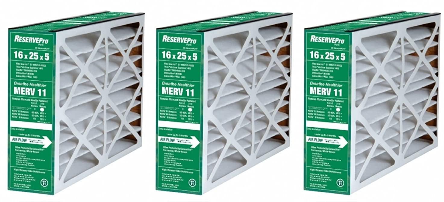 ReservePro 16x25x5 # 4511/ New #4541 furnace filter, Actual Size:15 5/8