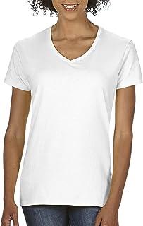Women's Heavy Cotton V-Neck T-Shirt 2-Pack