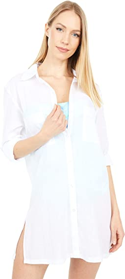Island Fare Camp Shirt Cover-Up