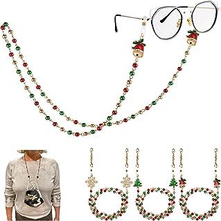 PHALIN Christmas Mask Lanyard Beaded Glasses Chain Necklace Face Cover Holder Mask Leash for Women Men Girls