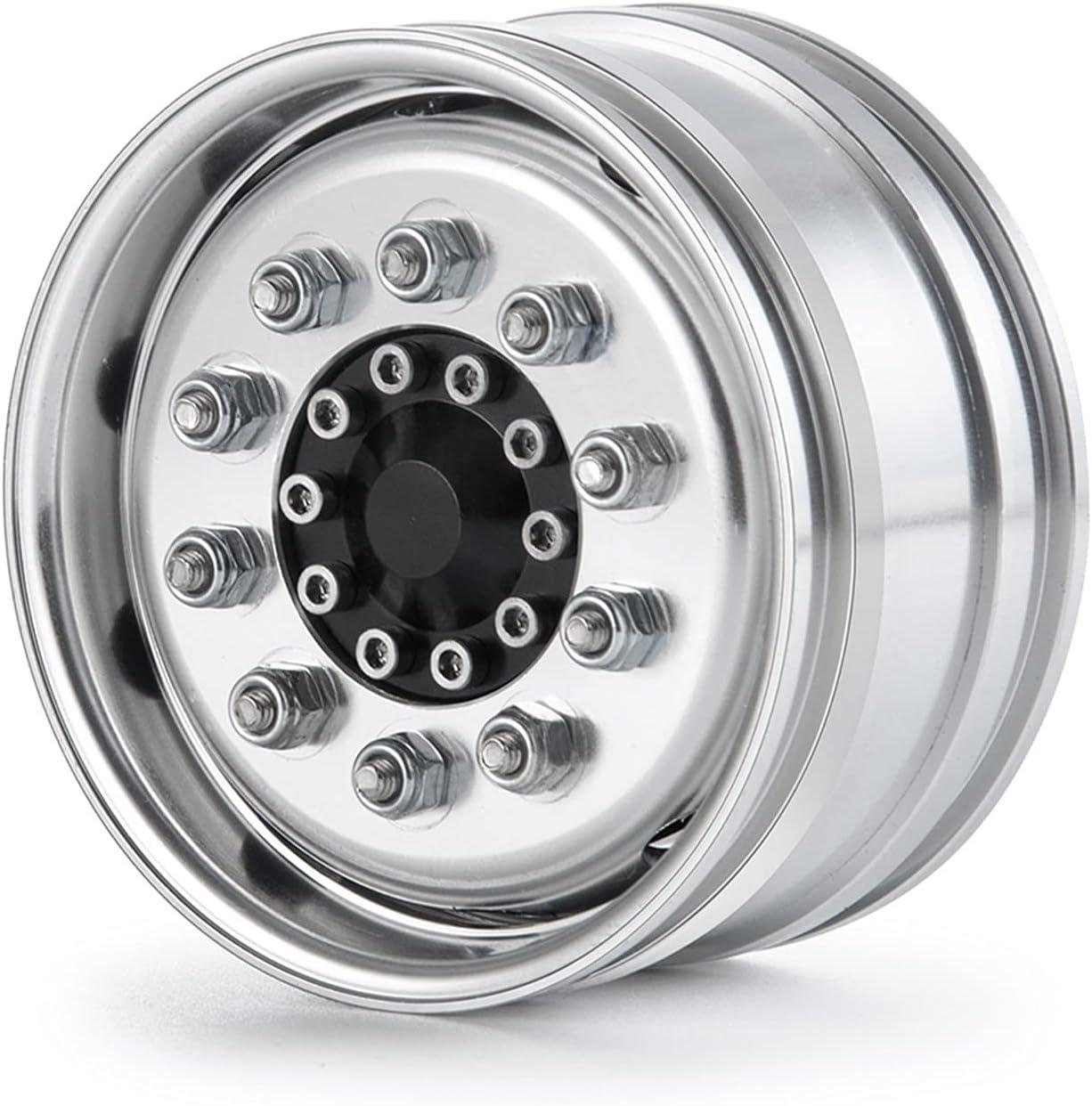 1 2pcs Metal Beadlock Bearing Type Cheap bargain OFFicial for 0 Front Rims Wheel Hubs