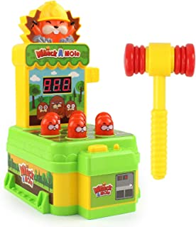 Whack A Mole Game, Mini Arcade Game Toy Family Interactive Pounding Toy With Light And Sound For 2/3/ 4/5 Year Old Kids, B...