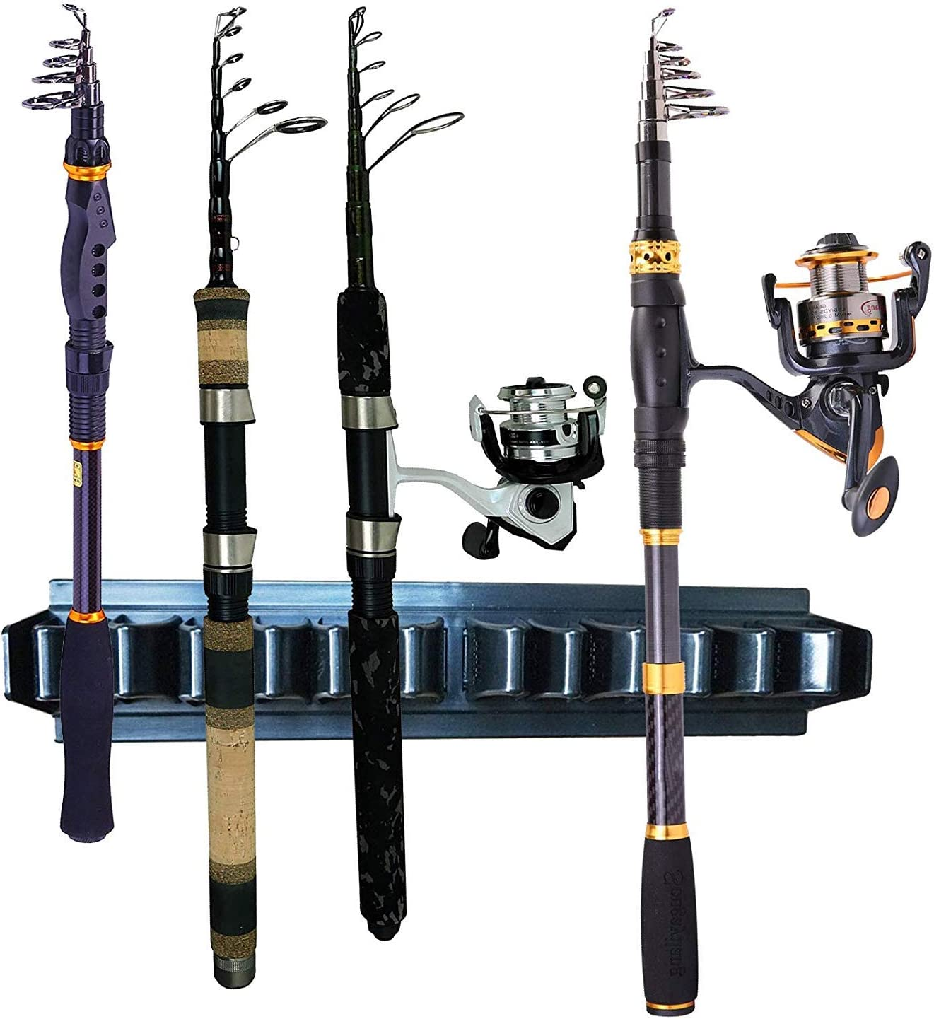Pmsanzay Direct stock discount Fishing sold out Rod Storage Hold Rack 10-Rod Pole