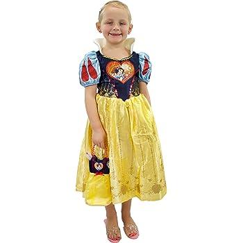 Disney Disfraz Vestido y Bolso para Niñas Blancanieves Amarillo 7 ...