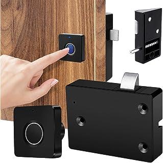 Smart Electronic Cabinet Drawer Lock, Fingerprint Lock for Wooden Furniture Drawer Cabinet Shelf Cupboard Locker Door, Hom...