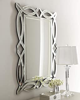 KOHROS Large Antique Wall Mirror Ornate Glass Framed Venetian Decor Mirror Bedroom,Bathroom, Living Room (W 28
